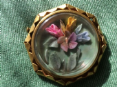 1930s to 1940s Lucite Floral Brooch on Metal Gallery